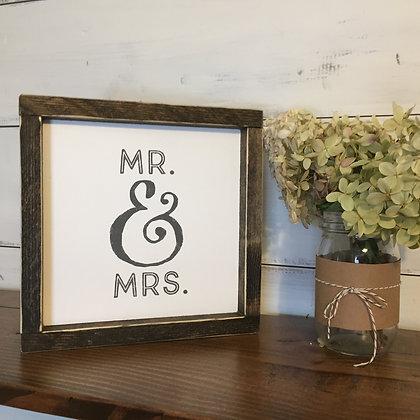 Mr. & Mrs. Framed Mini