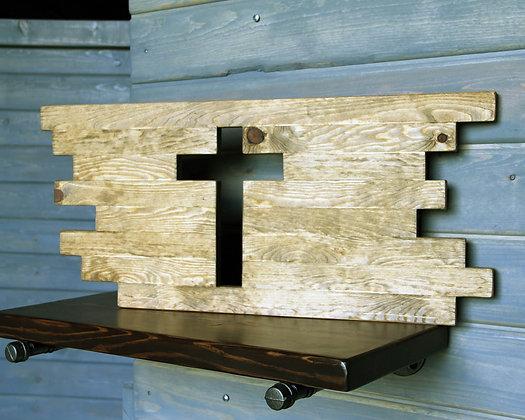 Rustic Geometric Cross