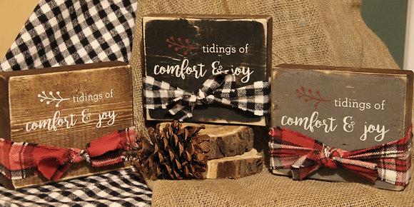 Tidings of Comfort & Joy block