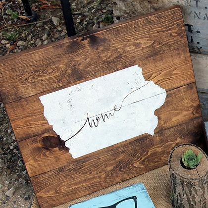 "Iowa ""Home"" Sign"