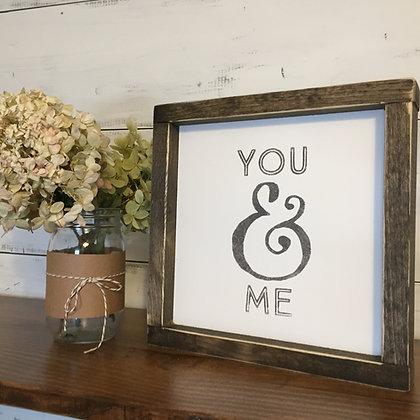 You & Me Framed Mini