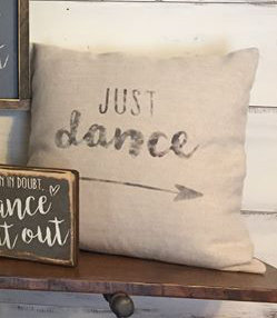 Just Dance pillow