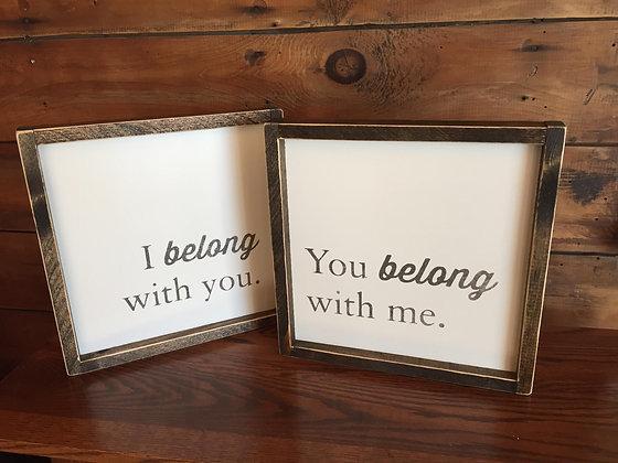 I belong with you, You belong with me set