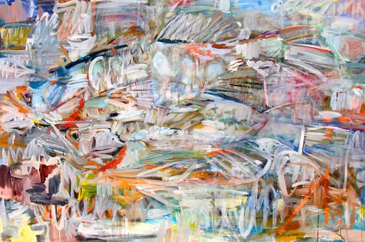 Unison 3, 48x72, Acrylic, Ink, Canvas, 2016