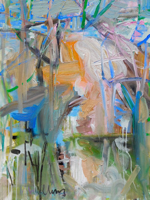 Spring Gust Variation III, 48x36, Acrylic, Ink, Canvas, 2018