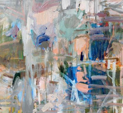 Presence, 33 x  36, Acrylic, Ink, Canvas, 2018