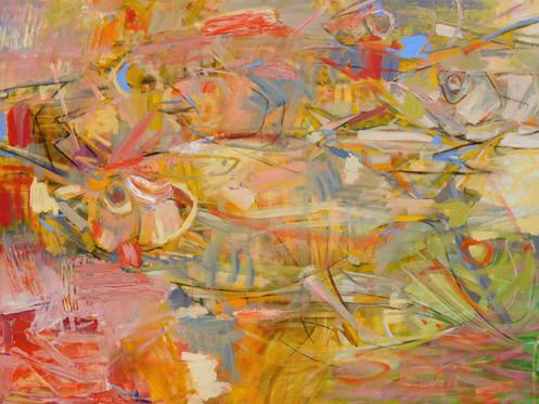 In Unison V, 36 x 48, Acrylic, Canvas, 2018