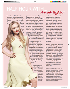 Magazine - Facing Page 1