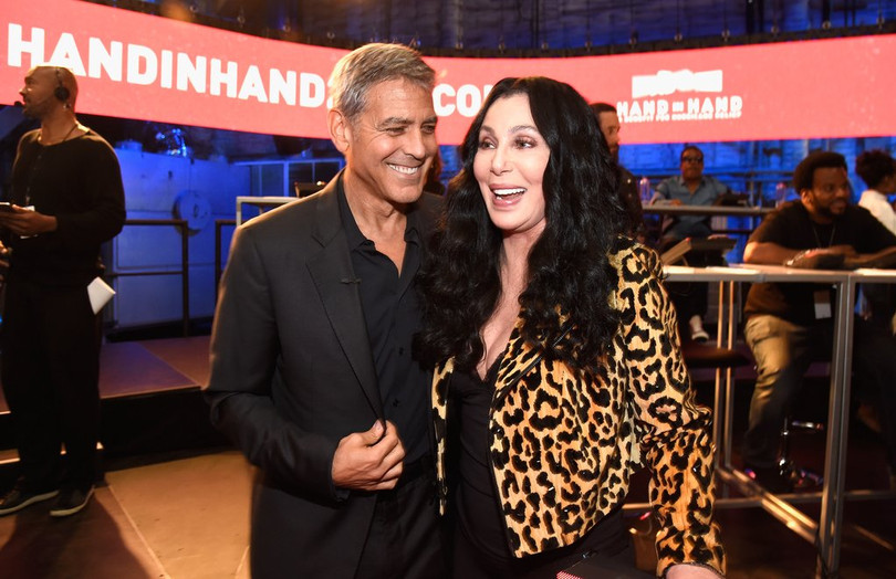 A Benefit for Hurricane Relief: George Clooney, Cher, and More