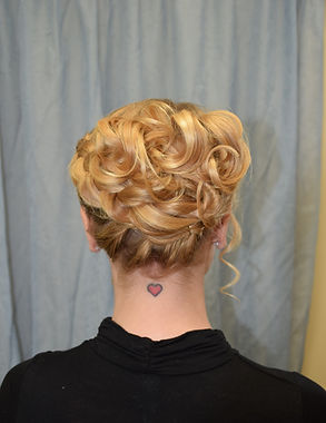 Up-do style for weddings or events at Posh A Salon