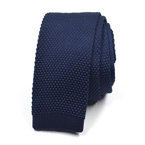 Pletená modrá kravata