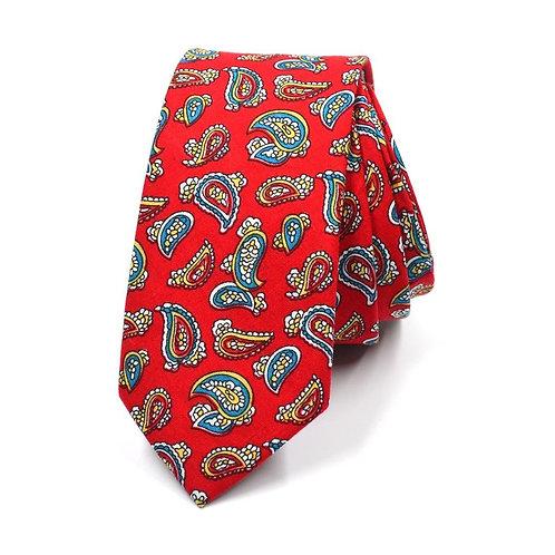 Červená Paisley kravata