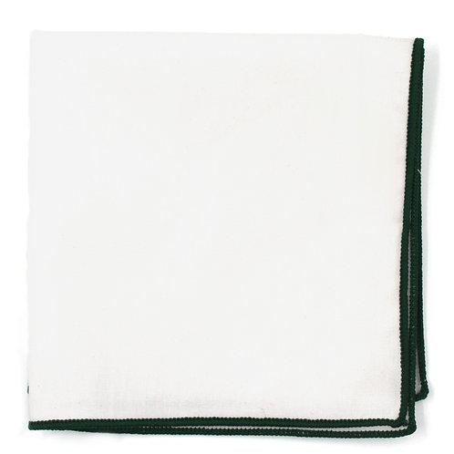 Bílý - zelený kapesníček do saka