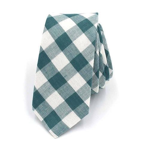 Karovaná zelená kravata