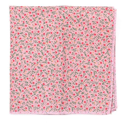 Květinový ružový kapesníček do saka