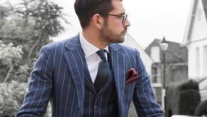 Moderní cesty k nošení pruhovaného obleku