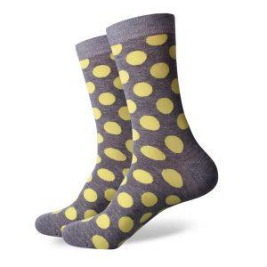 Barevné ponožky - Žluté puntíky
