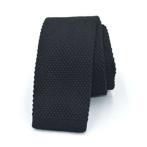 Pletená šedá kravata
