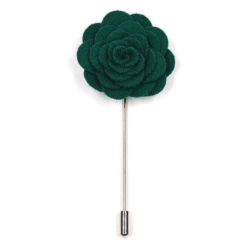 Zelená květina - ozdoba do klopy