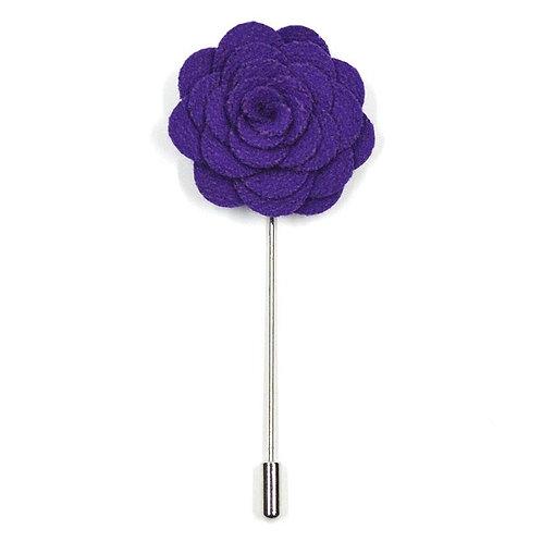 Fialová květina - ozdoba do klopy