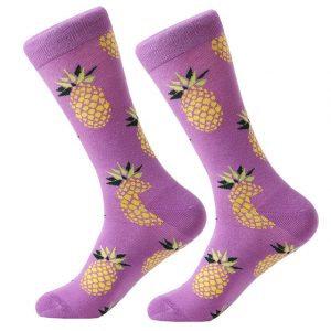 Barevné ponožky - Ananas fialový