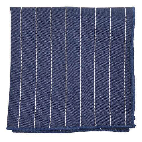 Modrý proužkovaný kapesníček do saka