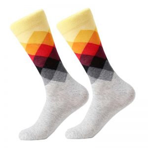 Barevné kostkované ponožky - One