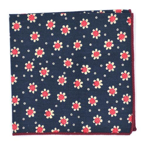 Modrý Květinový kapesníček do saka