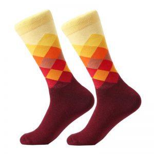Barevné kostkované ponožky - third