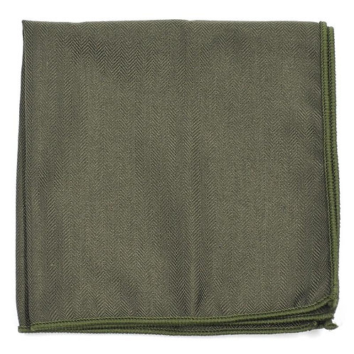 Tmavě zelený kapesníček do saka
