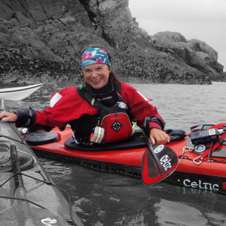 Eila leading a trip around the coast