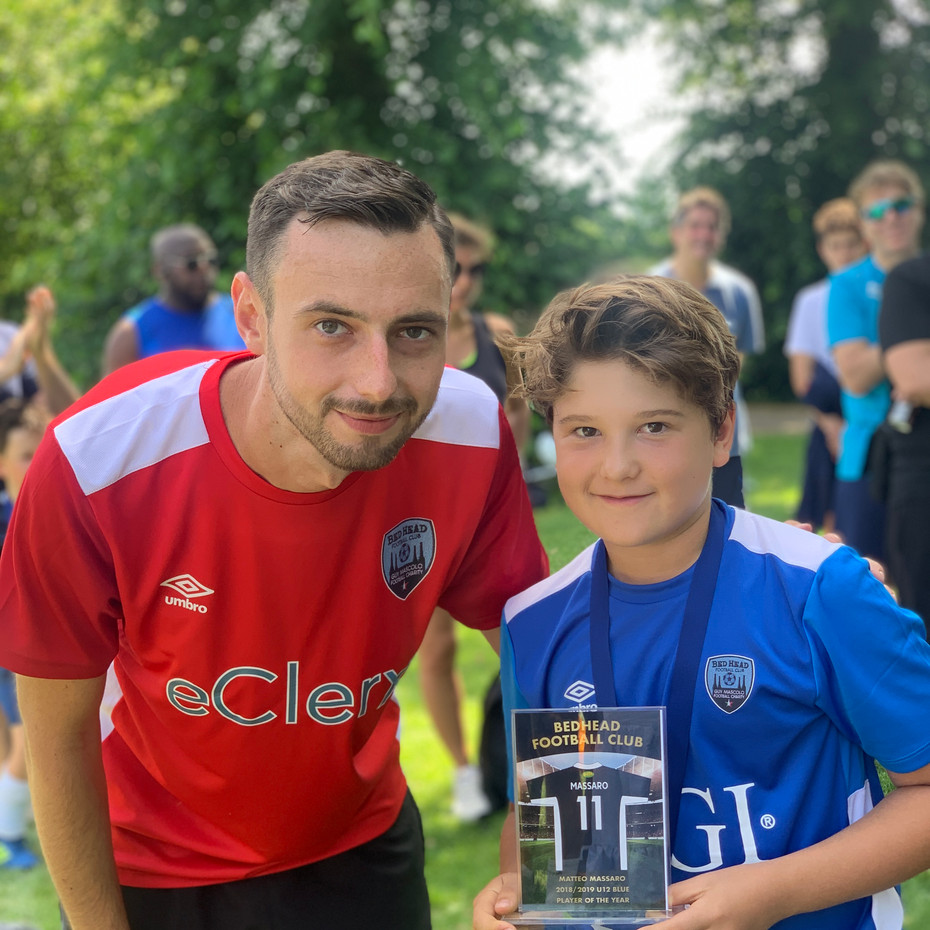 U12 Blue Player of the Year