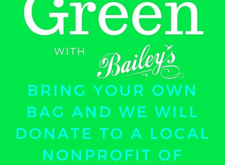 F.I.S.H. Supports Bailey's Bring Your Own Bag 'Go Green' Campaign