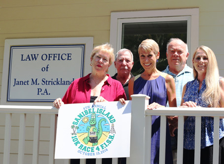 Sanibel Attorney Janet Strickland Is New  Silver Sponsor of 10K Race 4 F.I.S.H.