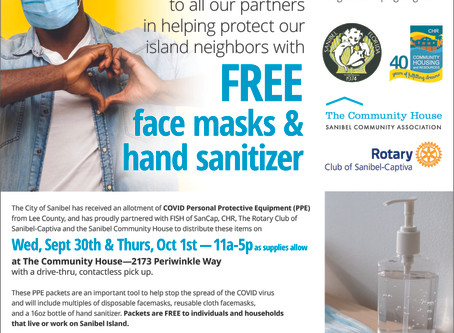 Helping Neighbors:  FISH OF SANCAP Distributing COVID PPE to Community