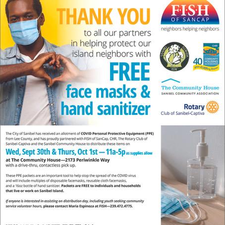 Helping Neighbors:  FISH OF SANCAP Distributing COVID PPE to Community