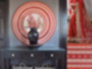 Red Saree mirror