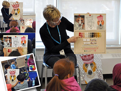School visit mosaic workshop