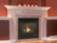 Fireplace broken china mosaic