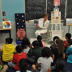 In-school mosaic workshop