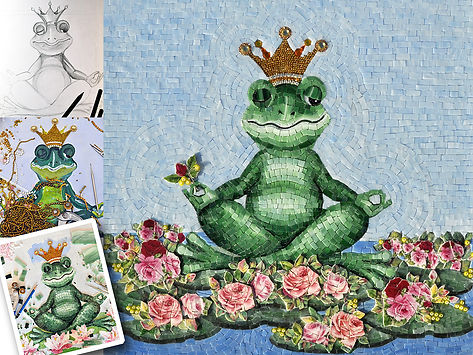Frog Prince mosaic