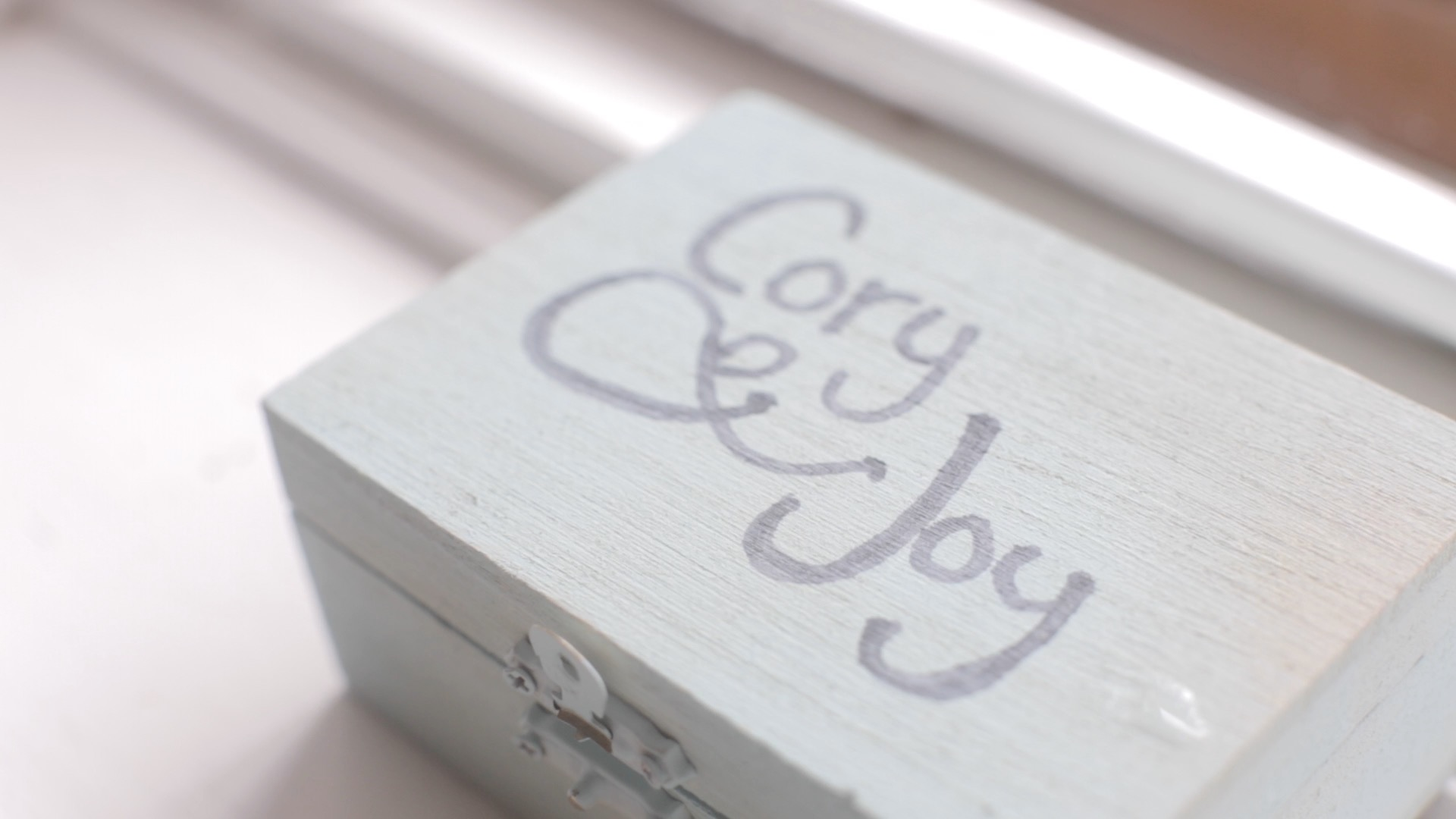Joy and Cory - Details - Box