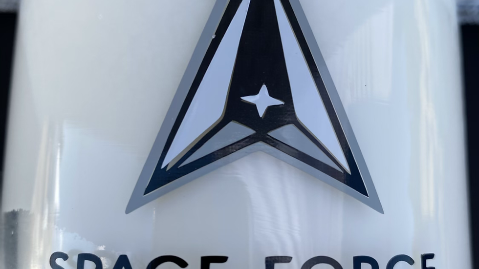 Space Force Military Candle