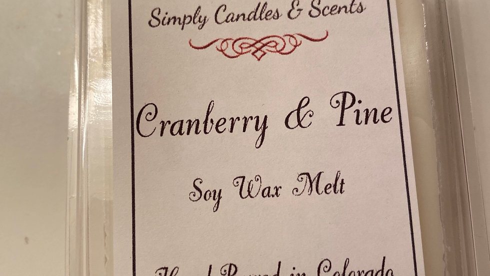 Cranberry & Pine Wax Melt