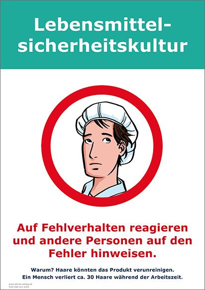 Lebensmittelsicherheitskultur: Haarhaube