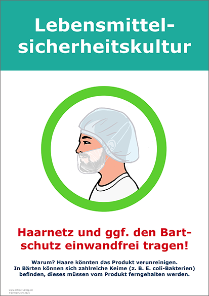 Lebensmittelsicherheitskultur: Bartschutz