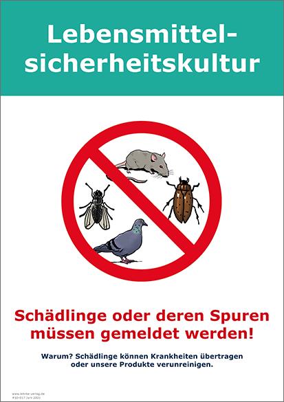 Lebensmittelsicherheitskultur: Schädlinge