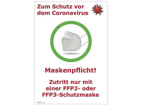 """Aushang """"FFP2/FFP3 Maskenpflicht"""""""