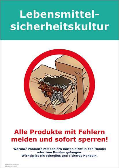 Lebensmittelsicherheitskultur: Fehlerhafte Produkte