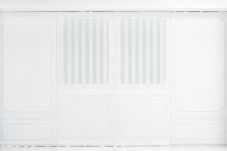 ブルーのストライプの移動式壁パネル